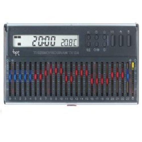 Cronotermostato elettronico giornaliero da parete grigio TH/124.01 GR