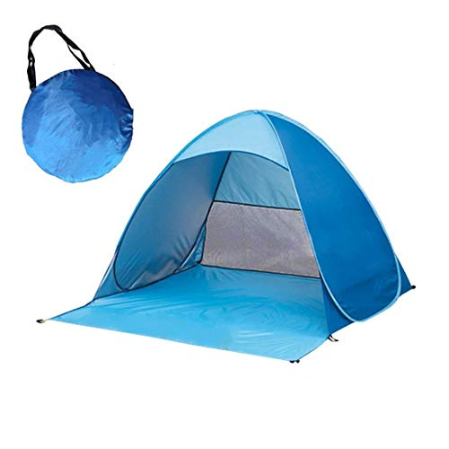 chinawh Zeltzubehör Faltbare Freier automatische Schnell Geschwindigkeit Geöffnet Outdoor-Camping-Strand-Zelt zu Bauen mit Tragetasche for 2 Erwachsene oder 3 Kinder Nutzung Größe: 1.65x1.5x1.1m
