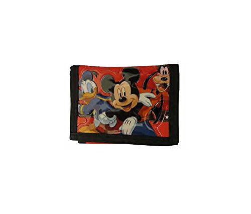 Disney Mickey Mouse Donald and Goofy Boys Money Wallet - Red Black