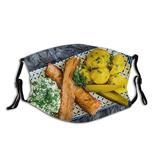 Máscara facial cómoda patatas crema agria eneldo pepinos carne a prueba de sol moda Bandana Headwear para la pesca