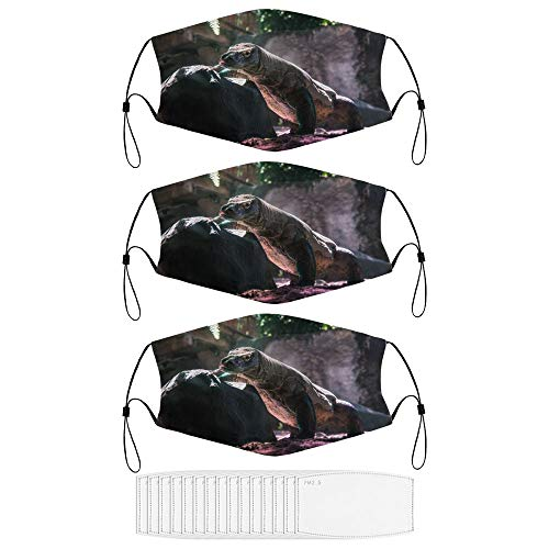 No-125557 Komodo Dragon Face Mask with 15 Filters