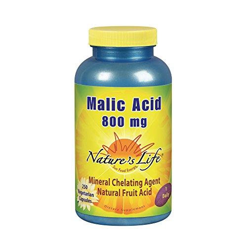Nature's Life, l'acide malique, 800 mg, 250 capsules vegetales