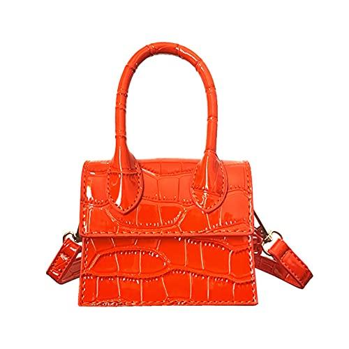 Cute Purse Mini Crossbody Bags for Women Girls Top Handle Clutch Handbag (orange)