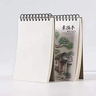 Sketchbook Drawing Pad, Pack of 2,100 Sheets 120g ,A4, Spiral Bound Artist Drawing Books, 50 Sheets Each, for Kids (NO.1)