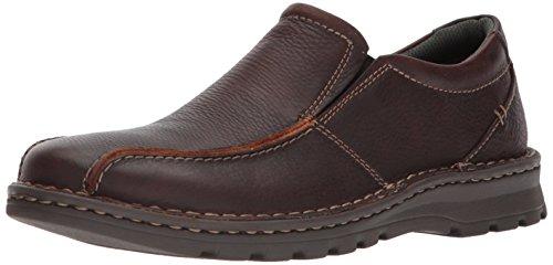 Clarks Men's Vanek Step Loafer, Brown Oily Leather, 12 M US