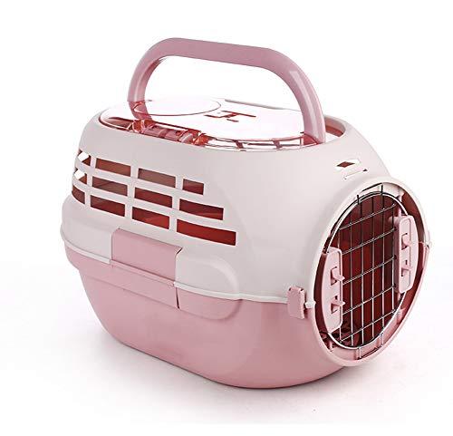 Aida Bz Crabot Dehors avec la boîte d'air d'animal familier de puits de lumière de Skylight boîte de Consignation de Chat Portable d'air de Cage d'animal familier,Pink