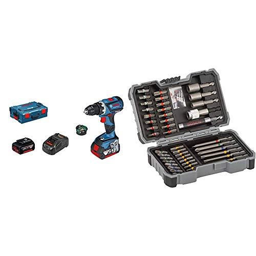 Bosch Profesional GSR 18V-60 C Atornillador a Batería Gama Dynamic, 2 baterías...