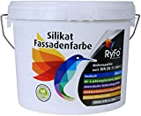 RyFo Colors Silikat Fassadenfarbe 6l - Außen-Farbe, Silikatfarbe, weiß, extrem atmungsaktiv, zertifiziert Deckkraft Klasse 1, Nassabrieb Klasse 1