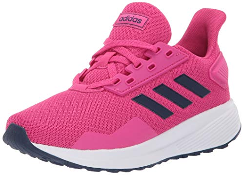 adidas Unisex-Kid's Duramo 9 Running Shoe, real magenta/dark blue/white, 7 M US Big Kid