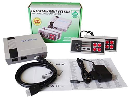 Console de jeux rétro Console de jeux classique Console de jeux familiale, console de jeux familiale, jeux intégrés de qualité supérieure 621, vous apportera de beaux souvenirs d'enfance, sortie HDMI