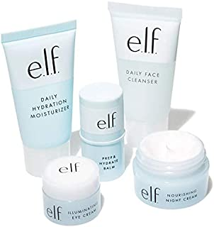 Elf Jet Set Hydration Kit! Included: Face Cleanser, Balm, Moisturizer, Night Cream And Eye Cream! Travel Sized Hydrating Skincare Kit! Vegan And Cruelty Free!
