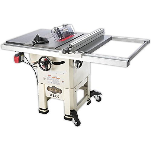 Product Image of the Shop Fox W1837 10' 2 hp Open-Stand Hybrid Table Saw