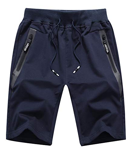 Sitmptol Big Boy's Casual Cotton Knit Short Board Drawstring Elastic JActive ogger Gym Shorts 2XL Dark Navy