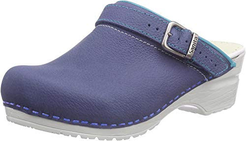 Sanita Damen Edna open Clogs, Blau (Navy 29), 41