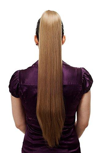WIG ME UP - T113-14 Haarteil/Zopf, sehr lang, glatt, Butterfly-Klammer, ca. 70 cm, Blond