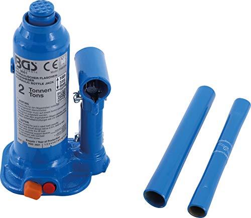 BGS 9881 | Hydraulischer Flaschen-Wagenheber | 2 t | Stempelwagenheber / Kompakt-Wagenheber