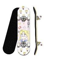 Pro 17in / 23 In / 28 In / 31インチ完全ミニクルーザートリックスケートボード(アニメかわいいセーラームムーンスケートボード2)女の子と子供のための最高の贈り物 (色 : Mini Children board 43CM/17 inches)