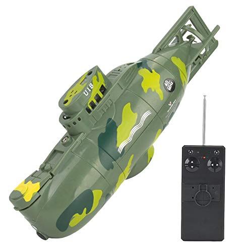 Simlug Remote Control Submarine for Pools & Lakes, Mini Simulation Military RC 6 Channel Submarine Toy Model(Green)