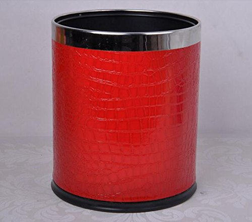 European Double Trash Cans Anneau en acier inoxydable Creative Trash Can