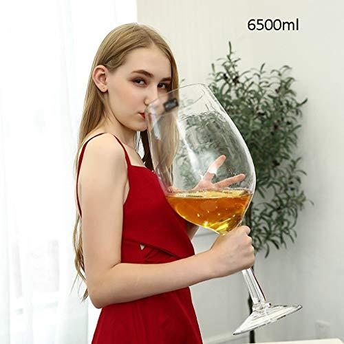 Xuan - worth having Copas de Vino Extra Grande Copa de Vino, Cerveza Gigante Copa de Vino, Personalizada cáliz de Bar, de Gran Capacidad de la Copa de Vino (Size : 6500ml)