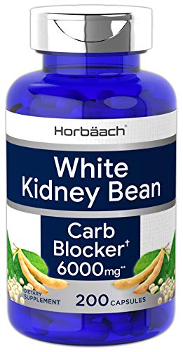 White Kidney Bean Carb Blocker | 6000 mg 200 Capsules | Non-GMO & Gluten Free Extract | by Horbaach