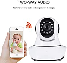 Storite Wireless CCTV 720P HD IP WiFi Smart Net Camera V380 64GB TF Storage Indoor/Outdoor Security CCTV Camera Support for iPhone / 3G Phone/Android/iPad/Tablet (1 Pack)