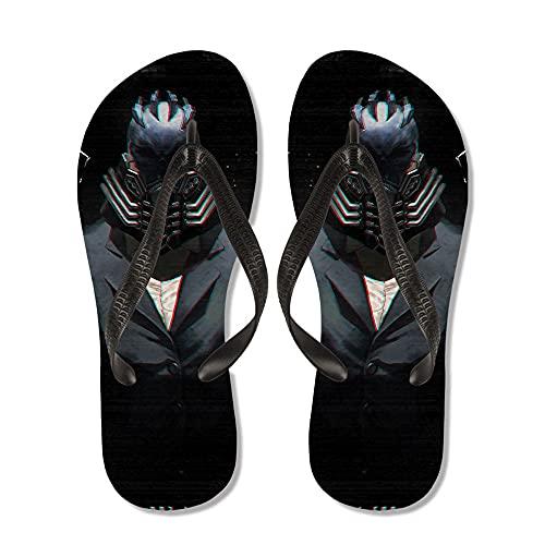 JINGXINA My Hero Academia Sandalias de Dedo de Anime/Pantuflas de fanático del Anime y Otaku/Chanclas de Anime/Zapatos de Ducha para Piscinas/Zapatos Antideslizantes/Pantuflas para Hombres y Mujeres