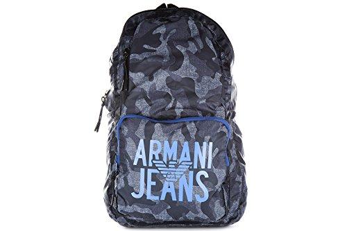Armani Jeans mochila bolso de hombre en Nylon nuevo blu