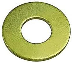 Steel Flat Washer, Zinc Yellow Chromate Plated Finish, Grade 8, ASME B18.22.1, 1/2