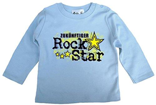Dirty Fingers Dirty Fingers, Zukünftiger Rock Star, Jungen T-Shirt langärmlig, 6-12 m, Hellblau