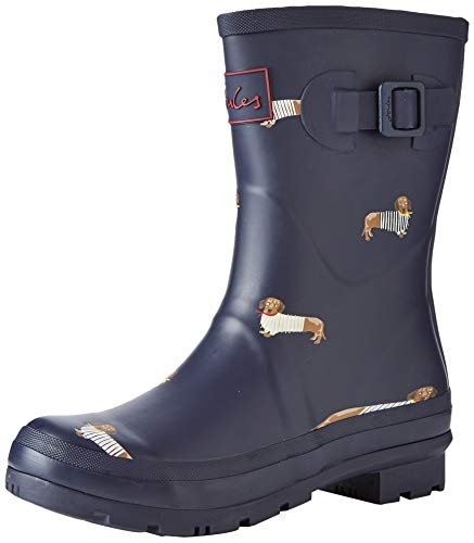 Joules Molly Welly, Botas de Agua Mujer, Azul (Navy All Over Dogs Nvyalodogs), 36 EU