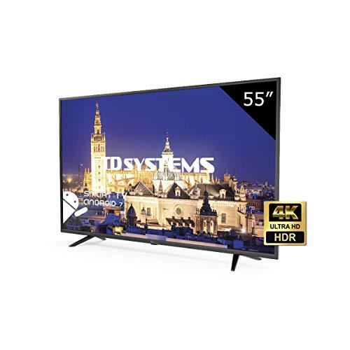 TD Systems K55DLY8US - Televisore Led 55 Pollici Ultra HD 4K Smart, risoluzione 3840 x 2160, HDR10, 3x HDMI, VGA, 2x USB, Smart TV