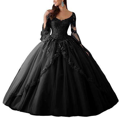 Vestido De Novia Con Encaje Negro