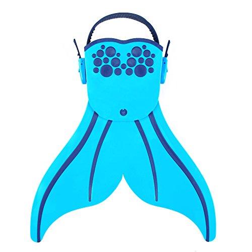 Sirena Aleta de natación Niños Monofin aletas natación piscina aletas para las niñas/niños por Candora