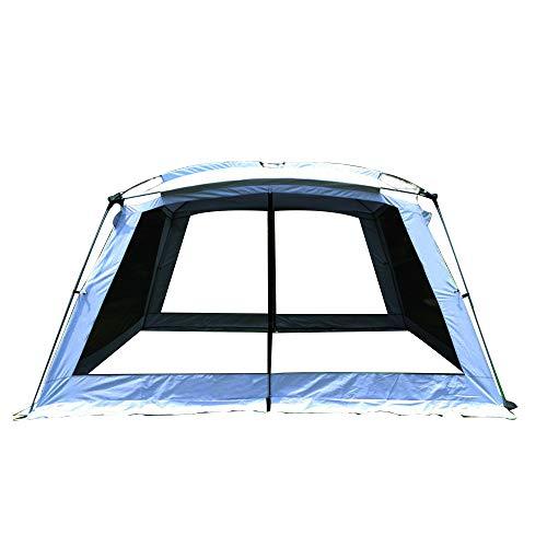 PLEASUR tuin vrije tijd tent, familie outdoor camping luifel reizen pergola paviljoen pol camping outdoor grote wilde tent campagne 5-8 personen tuinfeest, blauw