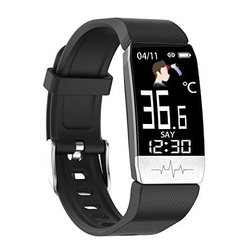 YEYOUCAI Fitness Tracker T1S 1.16 pulgadas pantalla IP67 impermeable pulsera inteligente, soporte monitoreo de oxígeno en sangre/monitoreo de temperatura corporal/monitoreo de frecuencia cardíaca