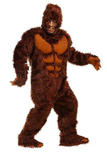 Disfraz de pie grande para hombres y adultos, disfraz de Sasquatch, talla grande, traje y mscara 4X