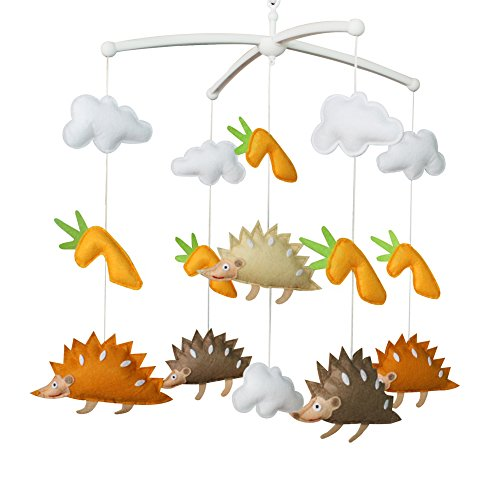 Baby Crib Musical Mobile Baby Jouets drôles Best Baby Mobile [Hedgehog]