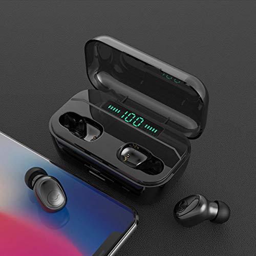 ist Präfekt für Streaming / Podcasting / Gaming TWS. Wireless Bluetooth 5.0 Kopfhörer 8D Stereo 3500mAh Power Bank Tragbare Kopfhörer mit Mikrofon ( Color : Black , Size : Double with Charging Box )