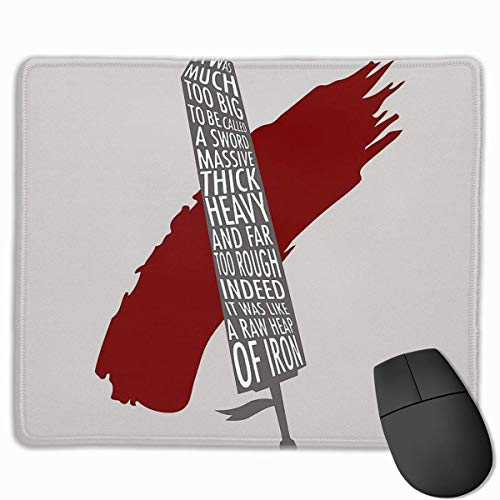 Berserker-Drache rutschfeste Gummi-Mousepad Gaming-Mauspad mit angenähter Kante 11,8 'x 9,8'
