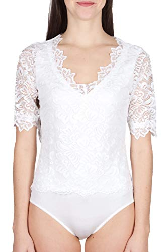 My Choice Helene 0717 5310 - Body con Tachuelas, Color Blanco Blanco Roto 38