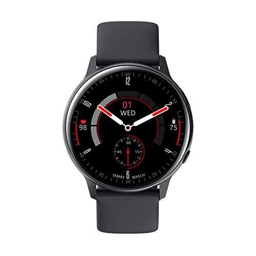 Bluetooth Smart Watches Fitness-Tracker & Herzmonitor & Blutdruck wasserdichte Aktivitäts-Tracker & Schlafmonitor & SMS-Anrufbenachrichtigungsuhr-schwarz