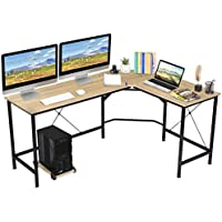 KingSo 65 Inch L Shaped Computer Desk with CPU Stand