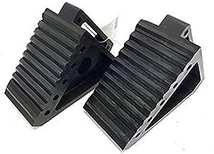 MAXXHAUL 70472 Solid Rubber Heavy Duty Black Wheel Chock 2-Pack, 8