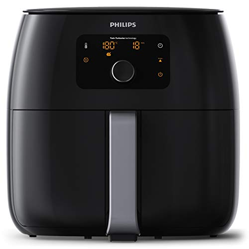 Philips HD9652/90 Airfryer XXL - Friggitrice Low-Oil e Multicooker con Tecnologia Twin Turbo Star, 2225 W, 1.4 kg, Plastica, Nero 43.3 x 32.1 x 31.5 cm