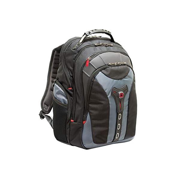 "41sclAawlBL. SS600  - Wenger/SwissGear 600639 maletines para portátil 43,2 cm (17"") - Funda (Funda Tipo Mochila, 43,2 cm (17""), Tirante para Hombro, 2,1 kg, Negro, Gris)"