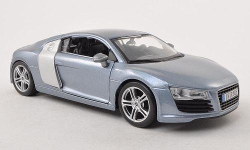 Audi R8, met.-grau , Modellauto, Fertigmodell, Maisto 1:24