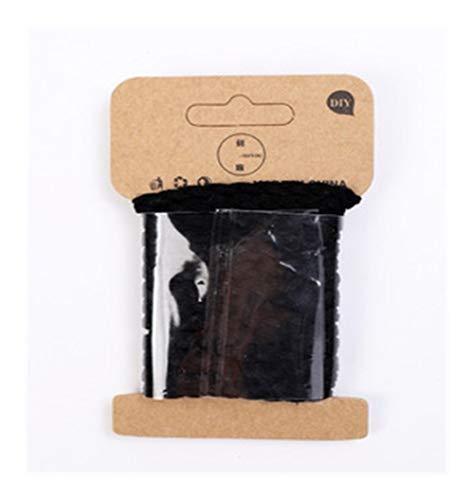 Conveniencia 5 mm * 3 yardas de terciopelo de cuero trenzado de cuerda for el bricolaje arte hecho a mano collar de la pulsera joyería de la cadena Haciendo Decoración Cuerdas Accesorios Garantizar