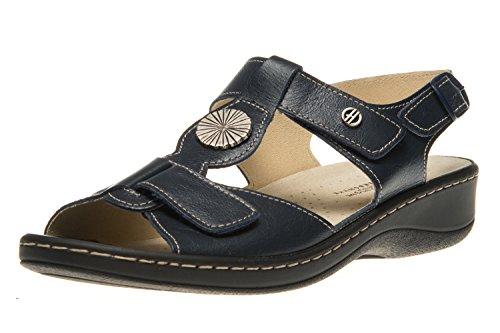 Hickersberger Vario Sandaletten in Übergrößen Blau 5108 7100 große Damenschuhe, Größe:45