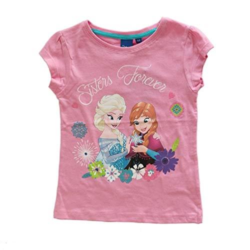 Frozen - Die Eiskönigin Anna & ELSA Mädchen T-Shirt Rosa, Größe:104 (4 A)